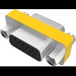 Vision TC-VGAFF cable gender changer VGA Metallisch, Gelb
