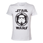 Star Wars Stormtrooper Helmet Emblem T-Shirt, Male, Extra Large, White (TS080701STW-XL)