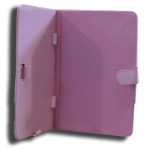 Leader Electronics Tab7 Folio Case Pink Faux Leather. Camera hole rear