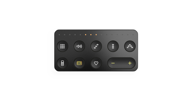 ROLI Live BLOCK Bluetooth Press buttons Black remote control