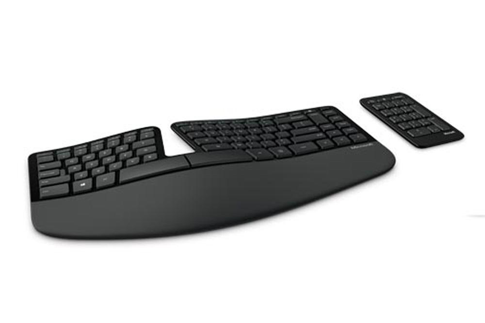 Microsoft Sculpt Ergonomic Keyboard  and Keypad set. This ergonomically designed wireless split keyb