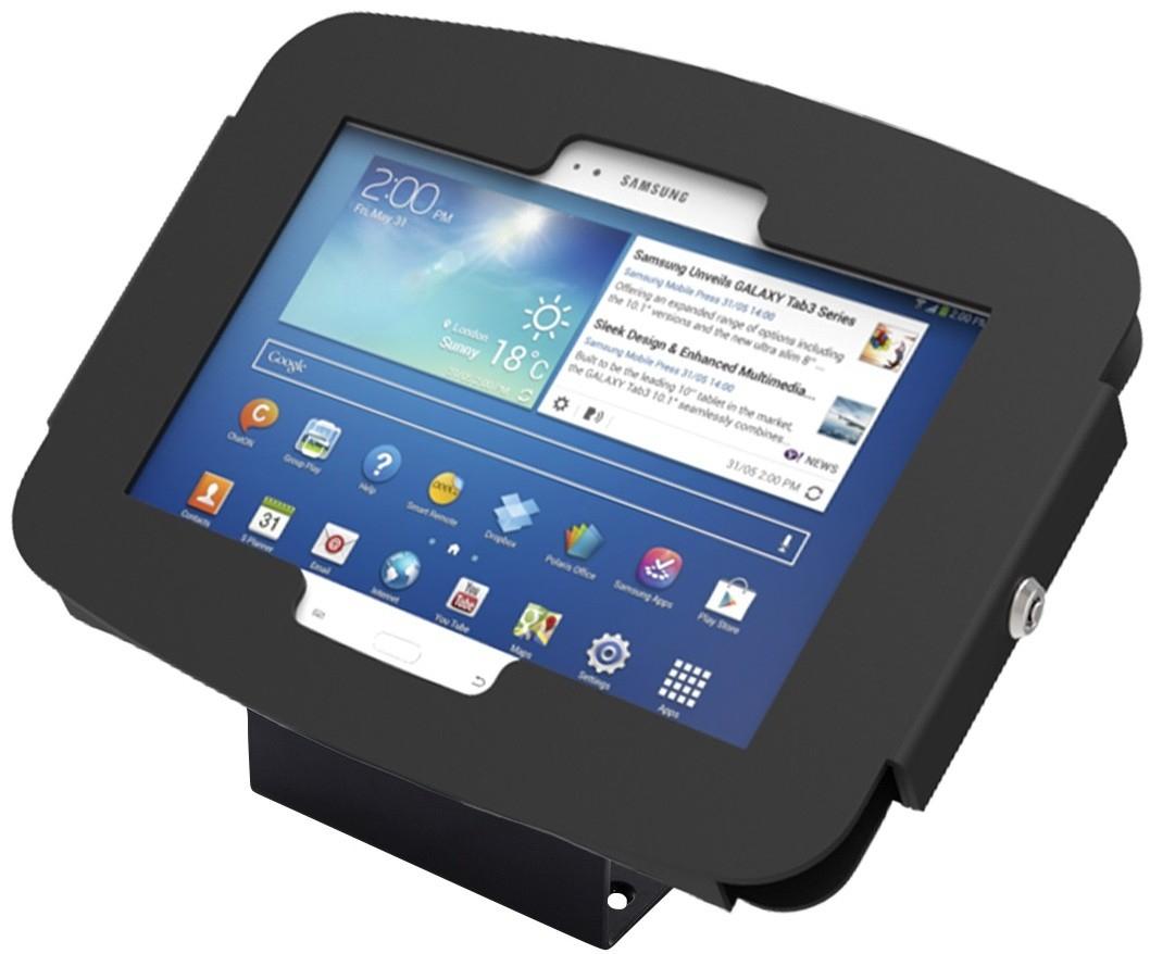 Maclocks Compulocks Galaxy Secure Space Enclosure with 45� Kiosk Black - Enclosure for tablet - lockable - hi