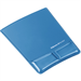 Fellowes Health-V Crystal Mouse Pad/Wrist Support Blue