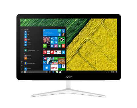 """Acer Aspire Z24-880 60.5 cm (23.8"""") 1920 x 1080 pixels Touchscreen 2.4 GHz 7th gen Intel® Core™ i5 i5-7400T Black,White All-in-One PC"""