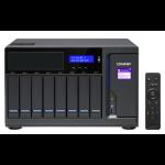 QNAP TVS-882BRT3 Ethernet LAN Desktop Zwart NAS