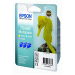 Epson C13T048B4010 (T048B) Ink cartridge bright cyan, 430 pages, 3x13ml, 13ml
