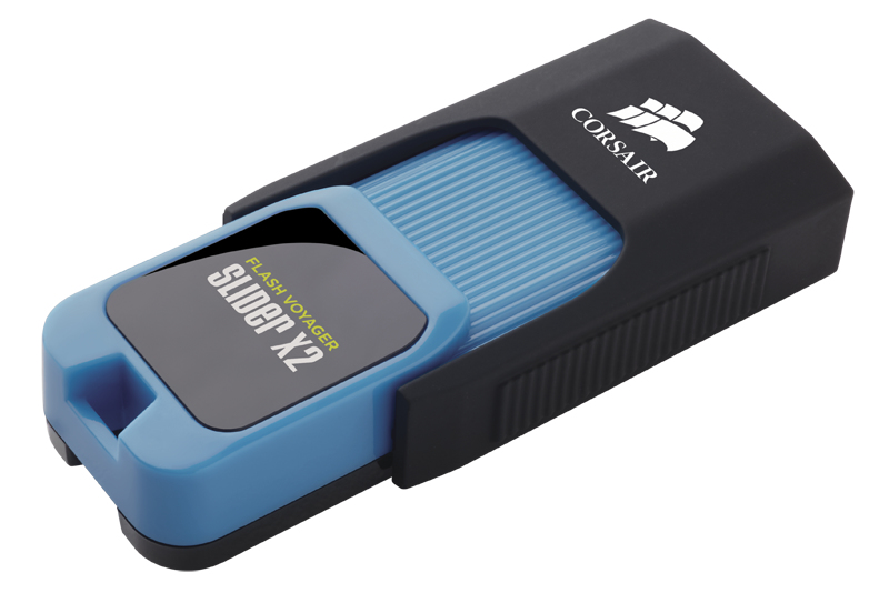 Corsair Voyager Slider X2 256GB 256GB USB 3.0 (3.1 Gen 1) Type-A Black,Blue USB flash drive