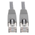 Tripp Lite Cat6a 10G-Certified Snagless Shielded STP Ethernet Patch Cable (RJ45 M/M), PoE, Grey, 1.52 m
