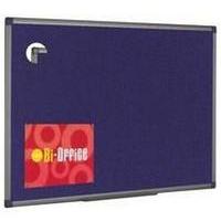 Bi-Office BI OFFICE BLUE FELT BRD 600X900 ALUM FRM