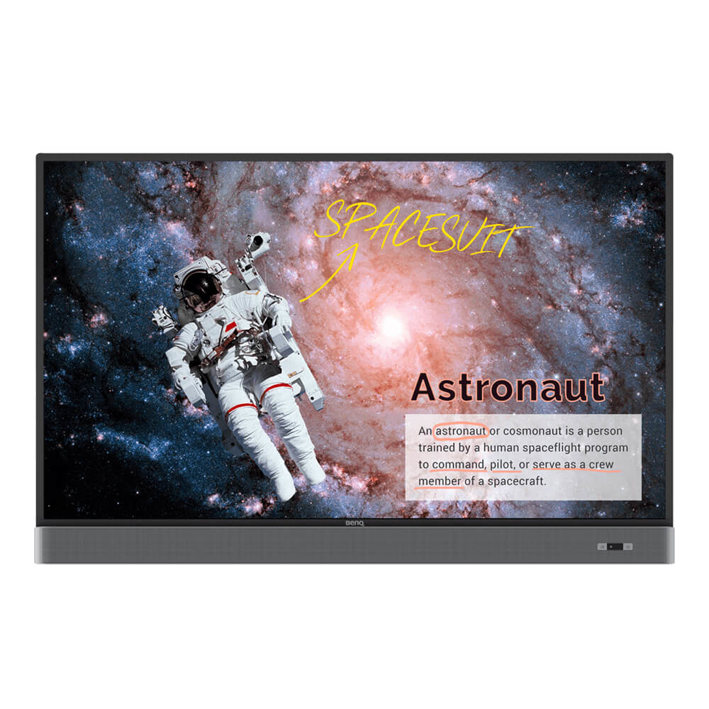 "Benq RM5502K Interactive flat panel 139.7 cm (55"") LED 4K Ultra HD Black Touchscreen"