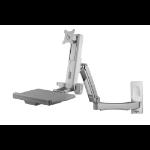 "Amer AMR1AWSL monitor mount / stand 61 cm (24"") Grey"