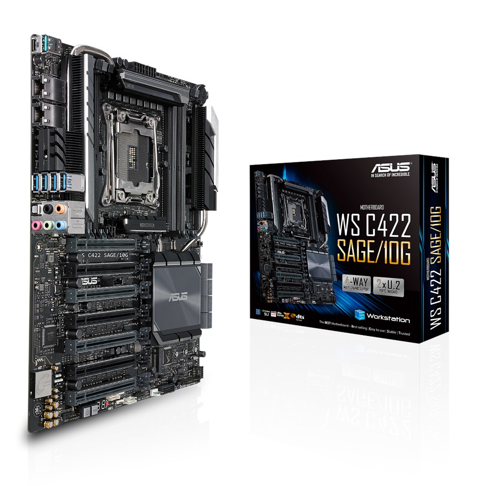 ASUS WS C422 SAGE/10G server/workstation motherboard LGA 2066 (Socket R4) CEB Intel® C422 90SW00J0-M0EAY0