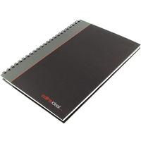 Collins A4 WIRO MANUSCRIPT BOOK BLK/GRY