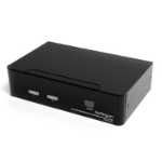 StarTech.com Conmutador Switch KVM - 2 puertos USB 2.0 - Audio Vídeo DVI