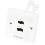 FDL DOUBLE HDMI/A SOCKET FACE PLATE