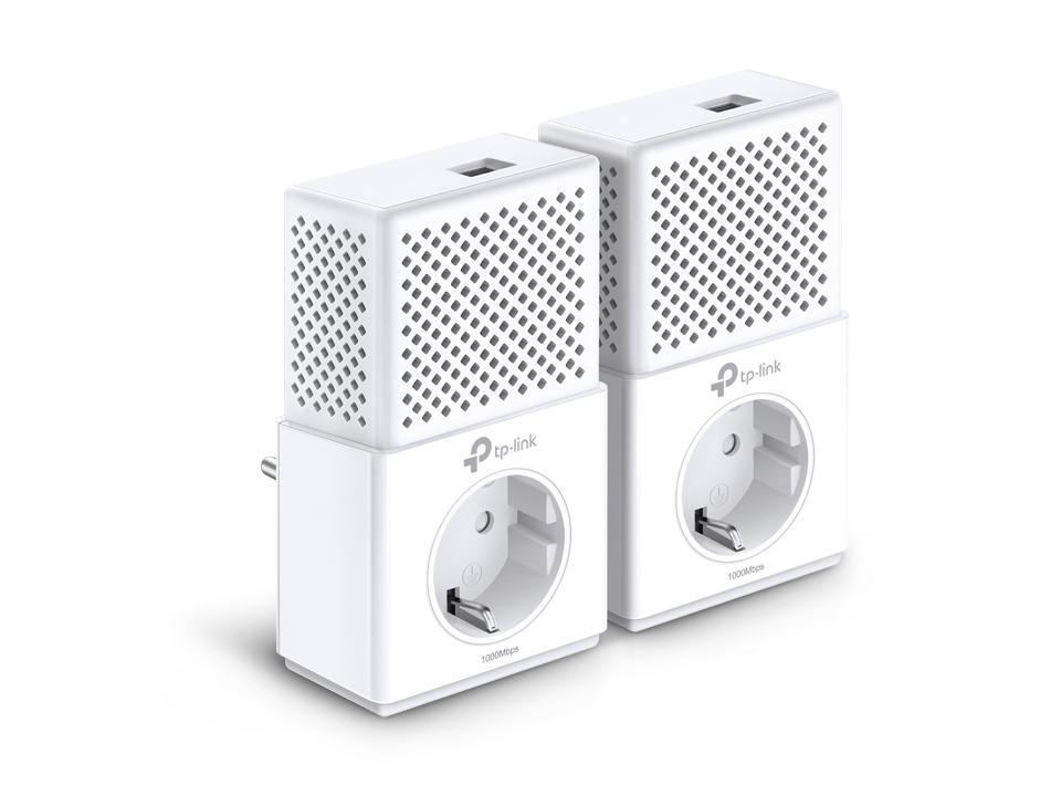TP-LINK AV1000 1000Mbit/s Ethernet LAN White 2pc(s) PowerLine network adapter