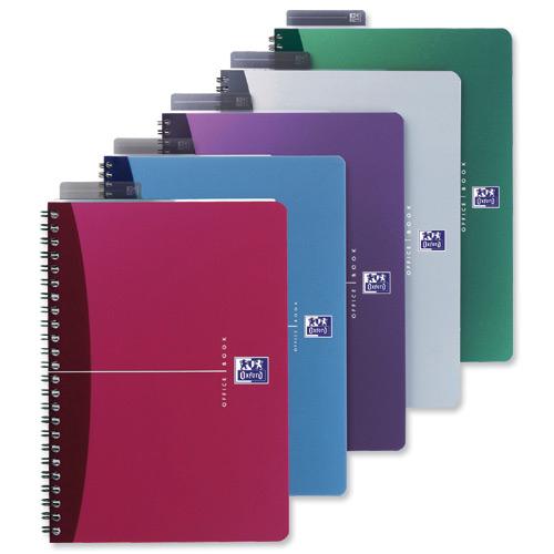 Elba Oxford writing notebook Multicolour A5 90 sheets