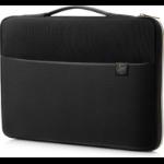 "HP 3XD37AA notebook case 43.9 cm (17.3"") Sleeve case Black, Gold"