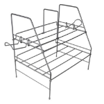 Atlantic Game Depot Wire Gaming Rack Steel Silver desk tray
