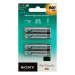 Sony Rechargeable Ni-MH Batteries, Size AAA, 4pc blister pack