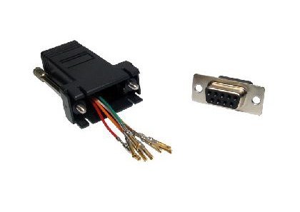 Cables Direct UT-152 cable interface/gender adapter 9 Way RJ-45 Aluminium,Black