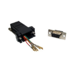 Cables Direct UT-152 cable interface/gender adapter 9 Way RJ-45 Aluminium, Black