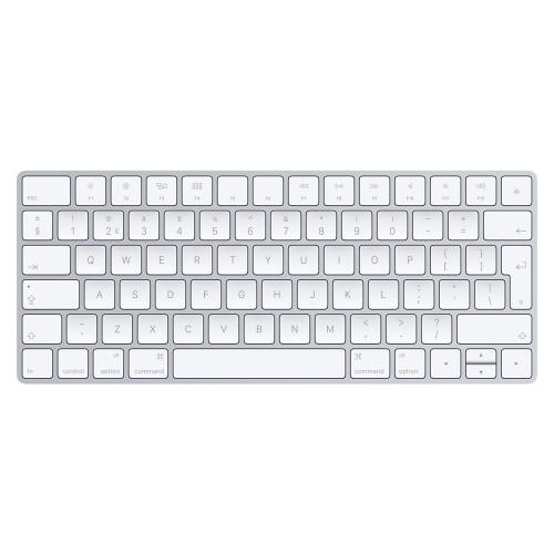 Apple MLA22 Bluetooth QWERTY English Silver, White