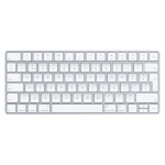 Apple MLA22 Bluetooth QWERTY English Silver, White