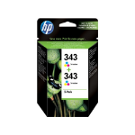 HP CB332EE+C9504EE 7ml 860pages 330pages Black, Cyan, Magenta, Yellow ink cartridge