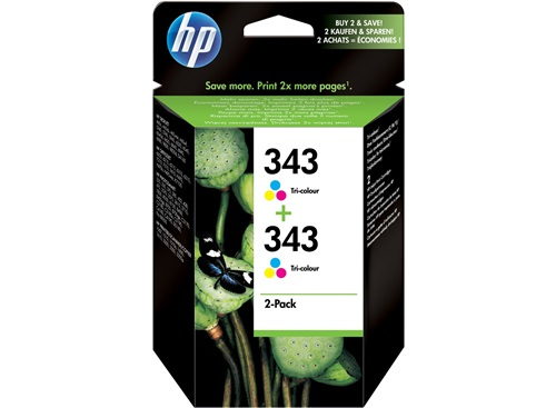 HP CB332EE+C9504EE 7ml 860pages 330pages Black,Cyan,Magenta,Yellow ink cartridge