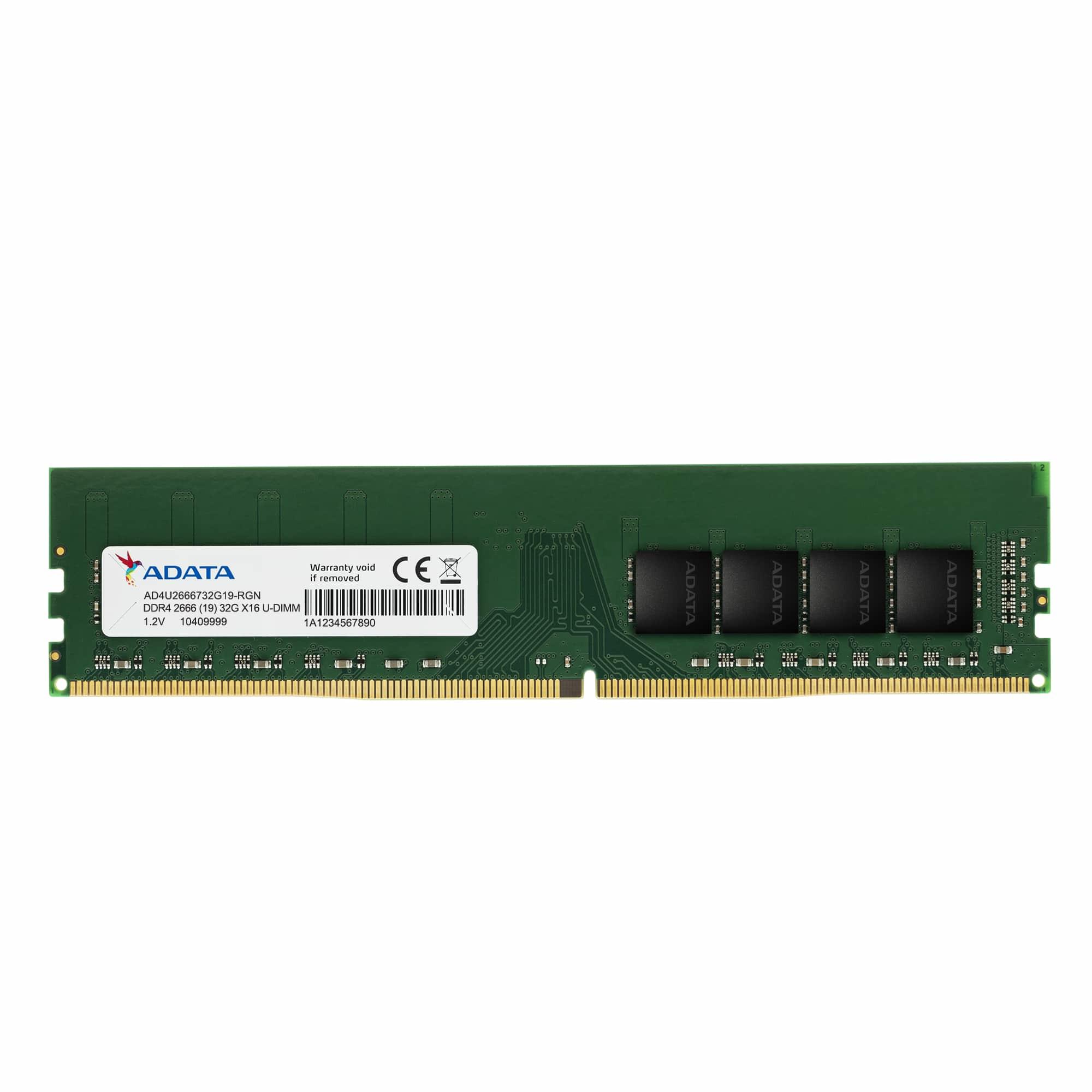 ADATA AD4U26664G19-SGN memory module 4 GB 1 x 4 GB DDR4 2666 MHz