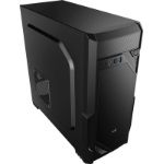 Aerocool VS-1 Midi Tower Case - Black Midi-Tower Black computer case