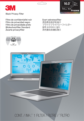 """3M 16.0"""" Widescreen Laptop Privacy Filter"""