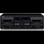 TEAC W-1200 cassette player Cassette deck 2 deck(s) Black