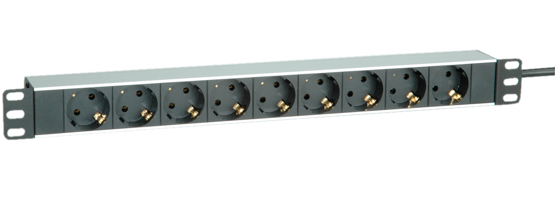 ROLINE 19.07.1620 POWER DISTRIBUTION UNIT (PDU) BLACK,WHITE 9 AC OUTLET(S)
