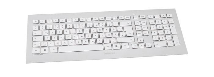 CHERRY STRAIT 3.0 teclado USB QWERTY Español Plata, Blanco