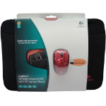 "Logitech 16'' Neoprene Notebook Sleeve + M215 notebook case 39.6 cm (15.6"") Sleeve case Black"