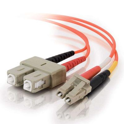 C2G 85459 fibre optic cable 15 m LC SC Orange