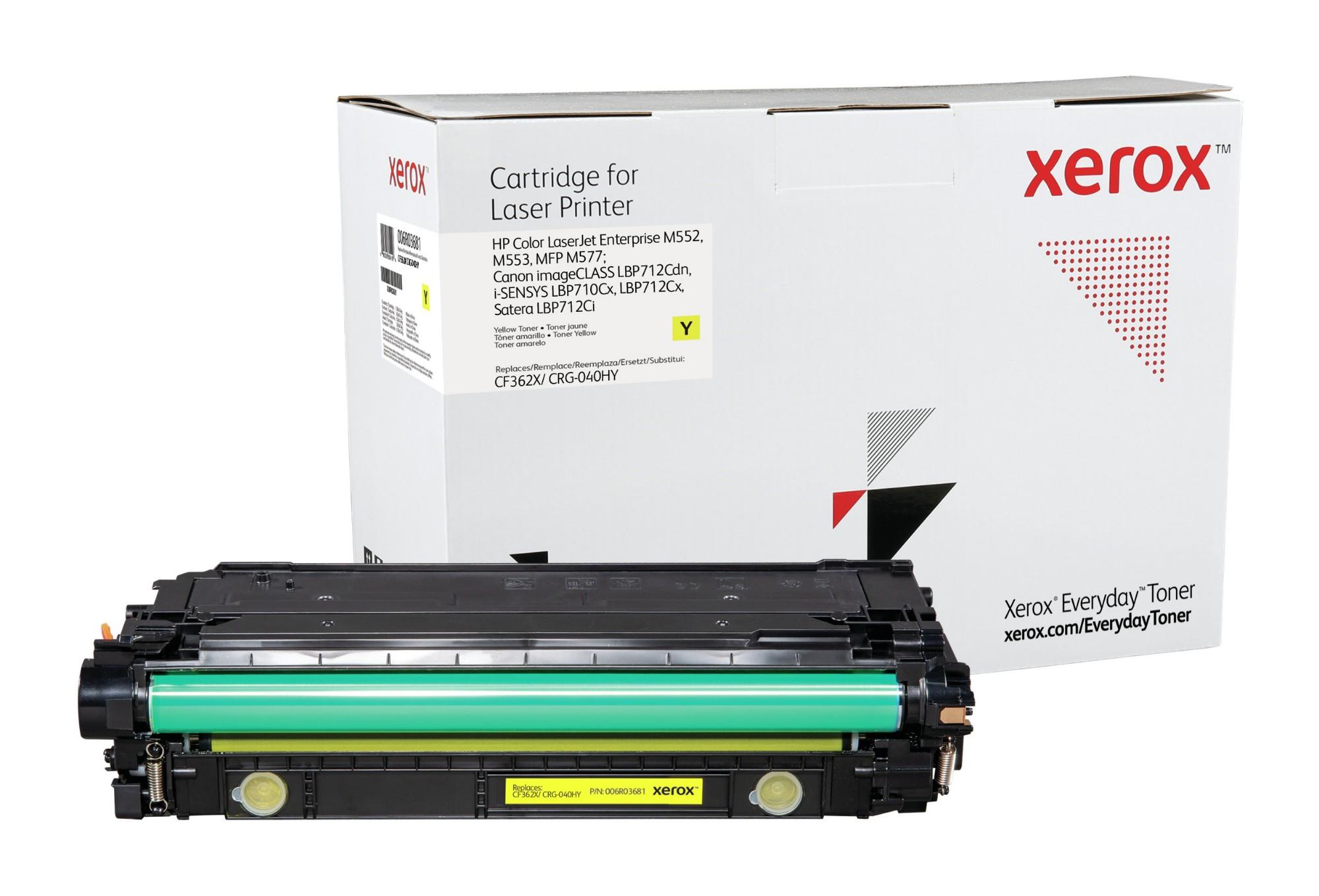 Xerox Tóner de Alto rendimiento Amarillo Everyday, HP CF362X/ CRG-040HY equivalente de , 9500 páginas