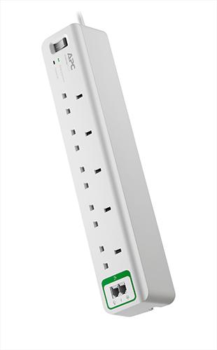APC SurgeArrest 5AC outlet(s) 230V 1.83m White surge protector