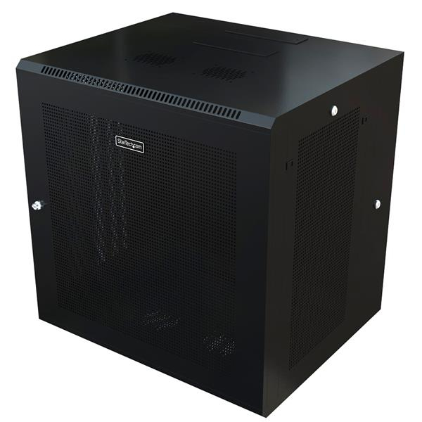 StarTech.com 12U Wall-Mount Server Rack Cabinet - 24 in. Deep - Hinged