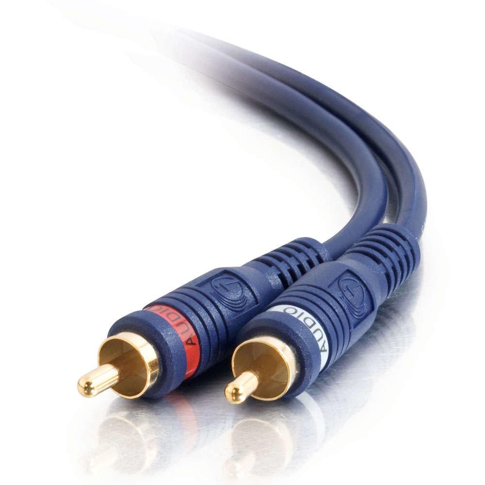 C2G 2m Velocity RCA Audio Cable cable de vídeo compuesto Negro