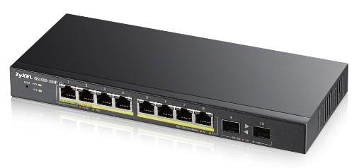 Zyxel GS1900-10HP Managed L2 Gigabit Ethernet (10/100/1000) Black 1U Power over Ethernet (PoE)