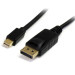 StarTech.com Cable Adaptador de 2m de Monitor Mini DisplayPort 1.2 Macho a DP Macho - 4k