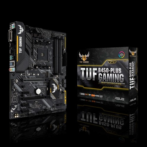 ASUS TUF B450-PLUS GAMING motherboard Socket AM4 ATX AMD B450