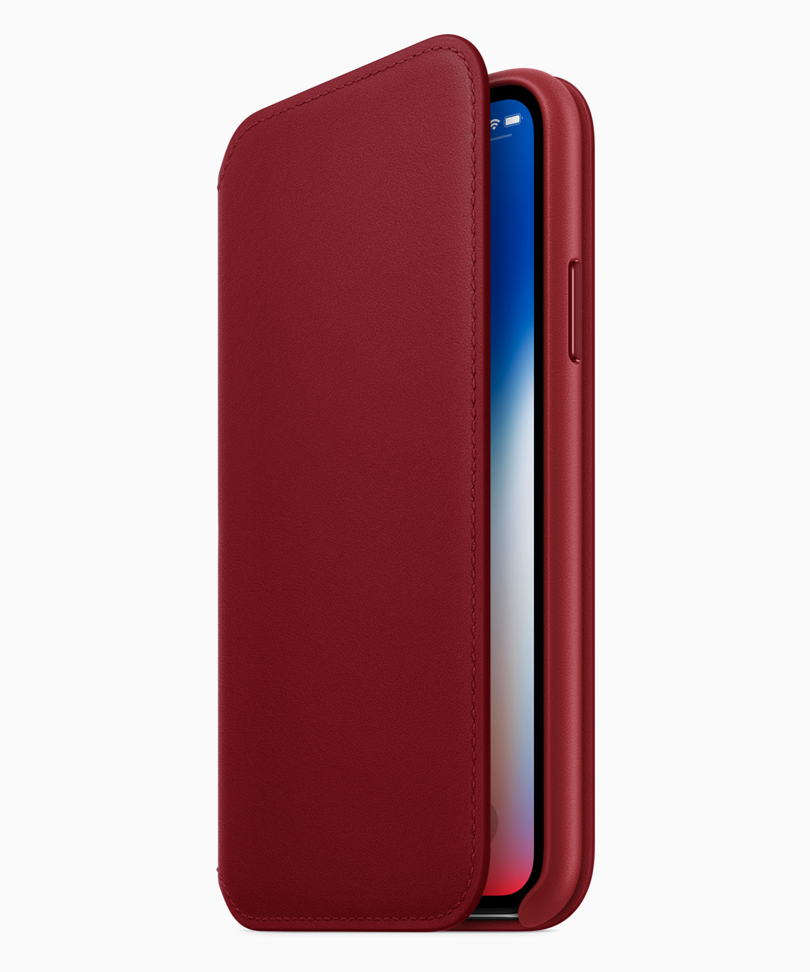 iPhone X Leather Folio - Product Red