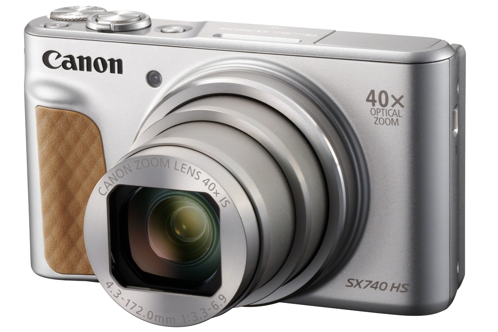 Canon PowerShot SX740 HS 20.3MP 40x Zoom Compact Camera - Silver