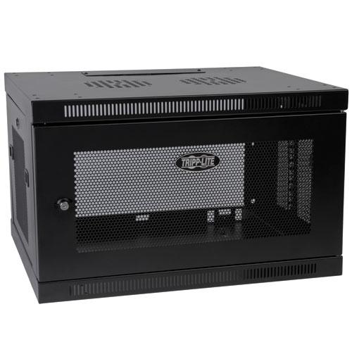 Tripp Lite 6U SmartRack Low-Profile Wall-Mount Rack Enclosure Server Cabinet Switch-Depth-Plus