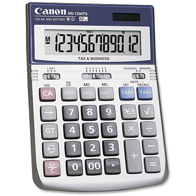 CANON HS1200TS CALCULATOR 12 DIGIT