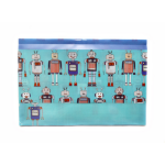 CLEARANCE SPENCIL DOCUMENT WALLET SPENCIL 250X375X25MM ROBOTS DESIGN(EACH)